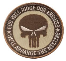 Patch OEF OIF DCU SF JUDGE ENEMY PUNISHER